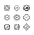 Set luxury monogram template vector image vector image
