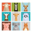 Set of animal icons vector image vector image