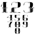 set of numbers in vintage style vector image vector image