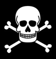 skull and crossbones jolly roger pirate symbols vector image