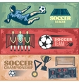 Soccer Horizontal Banners vector image