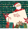 Square festive frame with Santa gift boxes and vector image vector image