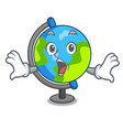 surprised globe mascot cartoon style vector image