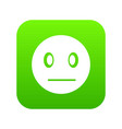 suspicious emoticon digital green vector image