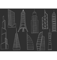 Tall buildings chalk vector image vector image