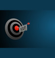 target business aim background vector image
