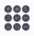 Target table tennis and fitness sport icons vector image vector image