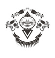 Tattoo studio logo emblem vector image