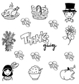 Thanksgiving doodle art vector image vector image