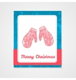 Toys on christmas tree - gloves Christmas vector image vector image