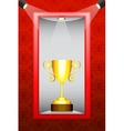 Trophy in Display vector image vector image