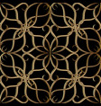 vintage arabesque style gold 3d line art tracery vector image
