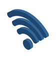 Wi-fi sign wifi symbol wireless connection icon vector image