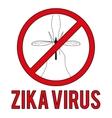 Zika virus warning round sign vector image vector image