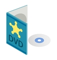 DVD disk with box isometric 3d icon vector image