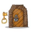 key and door of the castle - vector image