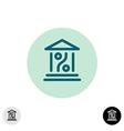 Bank percent icon vector image