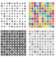 100 urban planning icons set variant vector image vector image