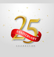 25 years happy anniversary banner celebration vector image