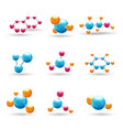 3D chemical molecules vector image