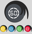 60 second stopwatch icon sign Symbol on five vector image vector image