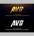alphabet gold metallic and effect designs elegant vector image vector image