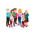 baby big family portrait vector image