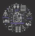 black banner winemaking - fermentation vector image vector image