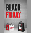 black friday mega sale poster design layout vector image vector image