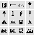 black road icon set vector image