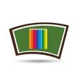 blackboard school icon set colors vector image