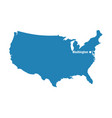 blank blue similar usa map with dc washington isol vector image vector image