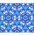 blue star flower kaleidoscope background vector image vector image
