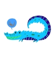 Cartoon crocodile flat mascot icon vector image