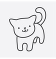 cat icon cute kitty charm in simple lines vector image vector image