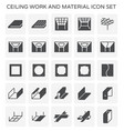 ceiling work icon vector image vector image