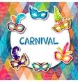 Celebration festive background with carnival masks vector image vector image