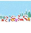 christmas greeting board vector image vector image