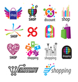 collection of logos shopping discounts vector image
