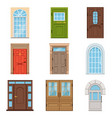 colorful front doors collection of vintage and vector image vector image