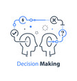 decision making and behavior mental trap vector image vector image