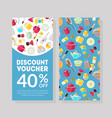 discount voucher template certificate or coupon vector image
