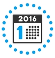 First 2016 Date Icon vector image