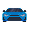 front view blue sport car supercar vehicle vector image