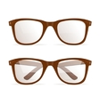 Glasses Brown Hipster vector image vector image