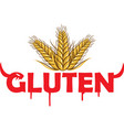 gluten devil symbol on grain background vector image vector image