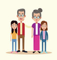 grandparents with grandchild image vector image vector image