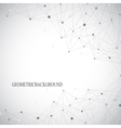 Grey graphic background with connected line and vector image vector image