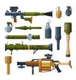 hand grenade and bazooka portable rocket launcher vector image
