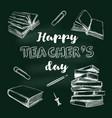 happy teachers day banner 3 vector image